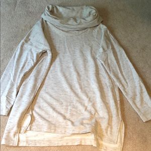 Lou & Grey 3/4 sleeve cowl neck sweater size L.